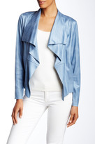 Insight Cracked Faux Leather Top Stitch Jacket