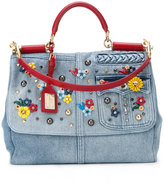 Dolce & Gabbana foldover denim bag - women - Cotton/Leather - One Size