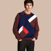 Burberry Geometric Appliqué Cotton Sweater
