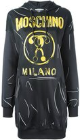 Moschino trompe l'oeil logo sweatshirt dress