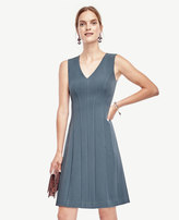 Ann Taylor Petite Doublecloth Seamed Flare Dress