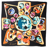 Kenneth Jay Lane Silk Printed Scarf