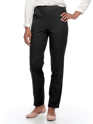 Croft & Barrow Women's Classic Pull-On Straight Leg Pants