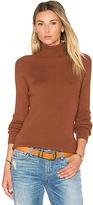 525 America Solid Rib Turtleneck Sweater