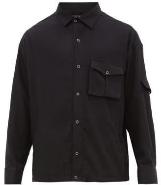 Martine Rose Shock Cord Back Appliqued Cotton Shirt - Mens - Black