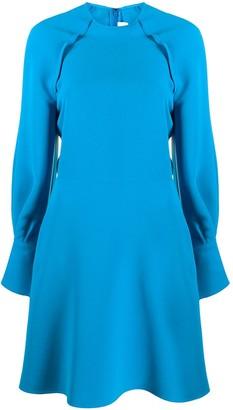 Victoria Victoria Beckham Long-Sleeve Midi Dress