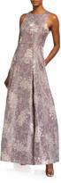 Aidan Mattox Sleeveless Brocade Ball Gown