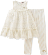 Juicy Couture Cream Lace Babydoll Tunic & Leggings - Toddler & Girls