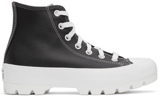 Converse Black Leather Chuck Taylor All Star Lugged High Sneakers