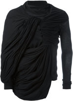 Rick Owens draped top - men - Cotton - XS