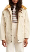Levi's Oversized Faux Fur Collar Corduroy Trucker Jacket