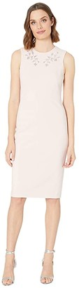 Calvin Klein Embellished Neck Sheath Dress