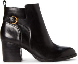 Lauren Ralph Lauren Black Ginelle Leather Ankle Booties