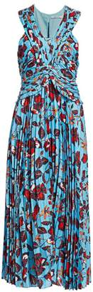 Derek Lam 10 Crosby Floral Pleated Maxi Dress