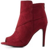 Charlotte Russe Textured Stiletto Ankle Booties