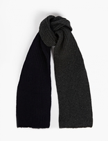 Marni Grey And Navy Contrasting Scarf