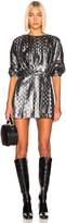 Dodo Bar Or Mika Lurex Dress in Silver   FWRD