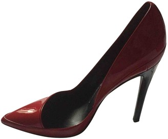 Anthony Vaccarello Red Patent leather Heels