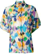 Missoni watercolour effect shirt - women - Silk/Spandex/Elastane - M