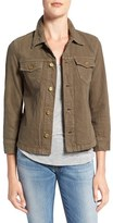 Women's True Religion 'Nora' Cotton & Linen Shirt Jacket