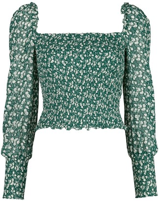Reformation Pinto floral-print top