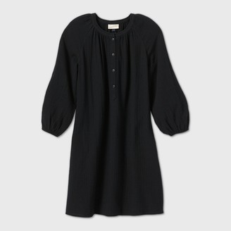 Universal Thread Women's ong Seeve Shirtdress - Universa ThreadTM