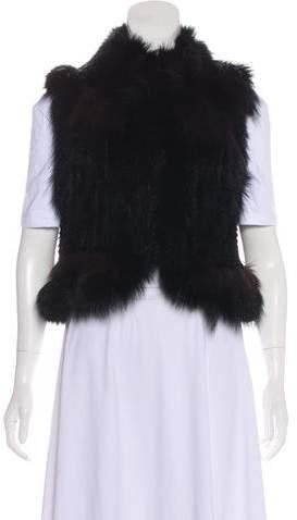 Elizabeth and James Fur Shawl Collar Vest