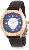 Bruno Magli Men's Water Resistant Leather-Strap Watch