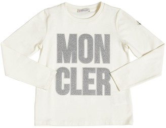 Moncler Logo Embroidered L/S Cotton T-Shirt