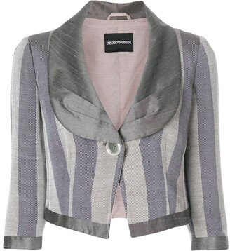 Emporio Armani Pre-Owned striped cropped jacket