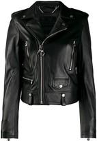 Philipp Plein slim-fit biker jacket