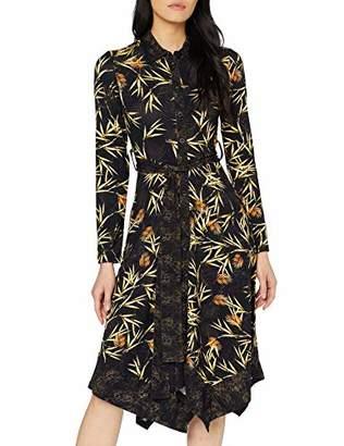 Joe Browns Womens Palm Leaf Print Lace Dress Black