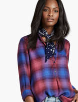 Lucky Brand Embroidered Plaid Shirt