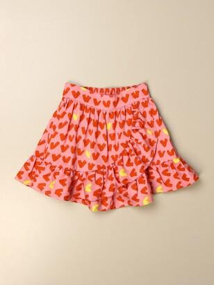 Stella McCartney Wide Skirt With Heart Pattern