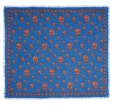 Alexander McQueen Classic skull modal-silk scarf