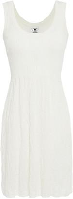 M Missoni Ribbed And Jacquard-knit Cotton Mini Dress