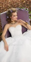 Camille La Vie Strapless Beaded Tulle Wedding Dress