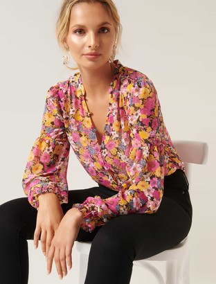 Forever New Tilly Printed Blouse Bodysuit - TBC Print - xxs