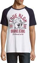 True Religion Men's Raglan Sleeve Cotton Tee