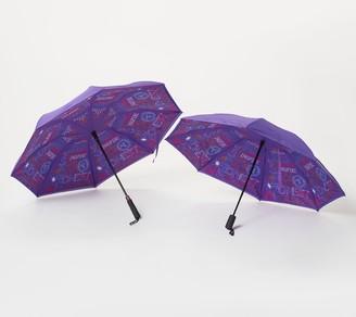 Revers A Brella Revers-a-Brella Set of 2 Long and Portable Umbrellas