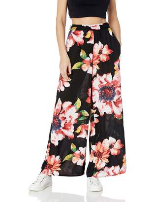 ECI New York New York Women's Floral Printed Flare Pants