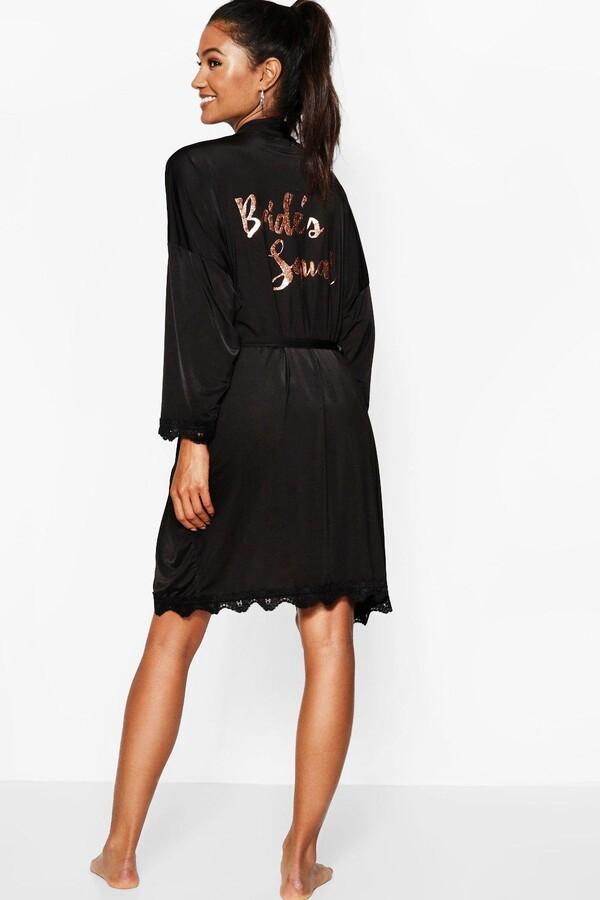 f5a3d1e406ae boohoo Black Women's Robes - ShopStyle