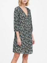 Banana Republic Petite Print Tiered Swing Dress