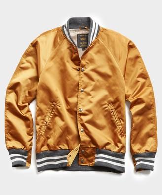 Todd Snyder + Golden Bear Japanese Nylon Bomber Jacket in Gold