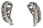 Oscar de la Renta Crystal Feather Earrings