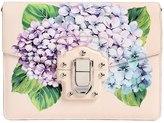 Dolce & Gabbana Lucia Hydrangea Print Leather Bag