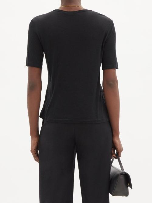 Thumbnail for your product : FRANCES DE LOURDES Martin Jersey T-shirt - Black
