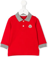 Moncler long sleeve polo shirt - kids - Cotton/Spandex/Elastane - 6-9 mth