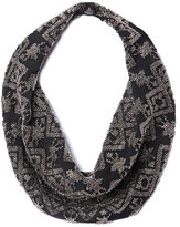 Mignonne Gavigan Dakota Silk Chiffon Scarf Necklace, Black Pattern