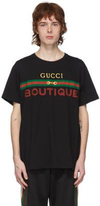 Gucci Black Boutique Logo T-Shirt